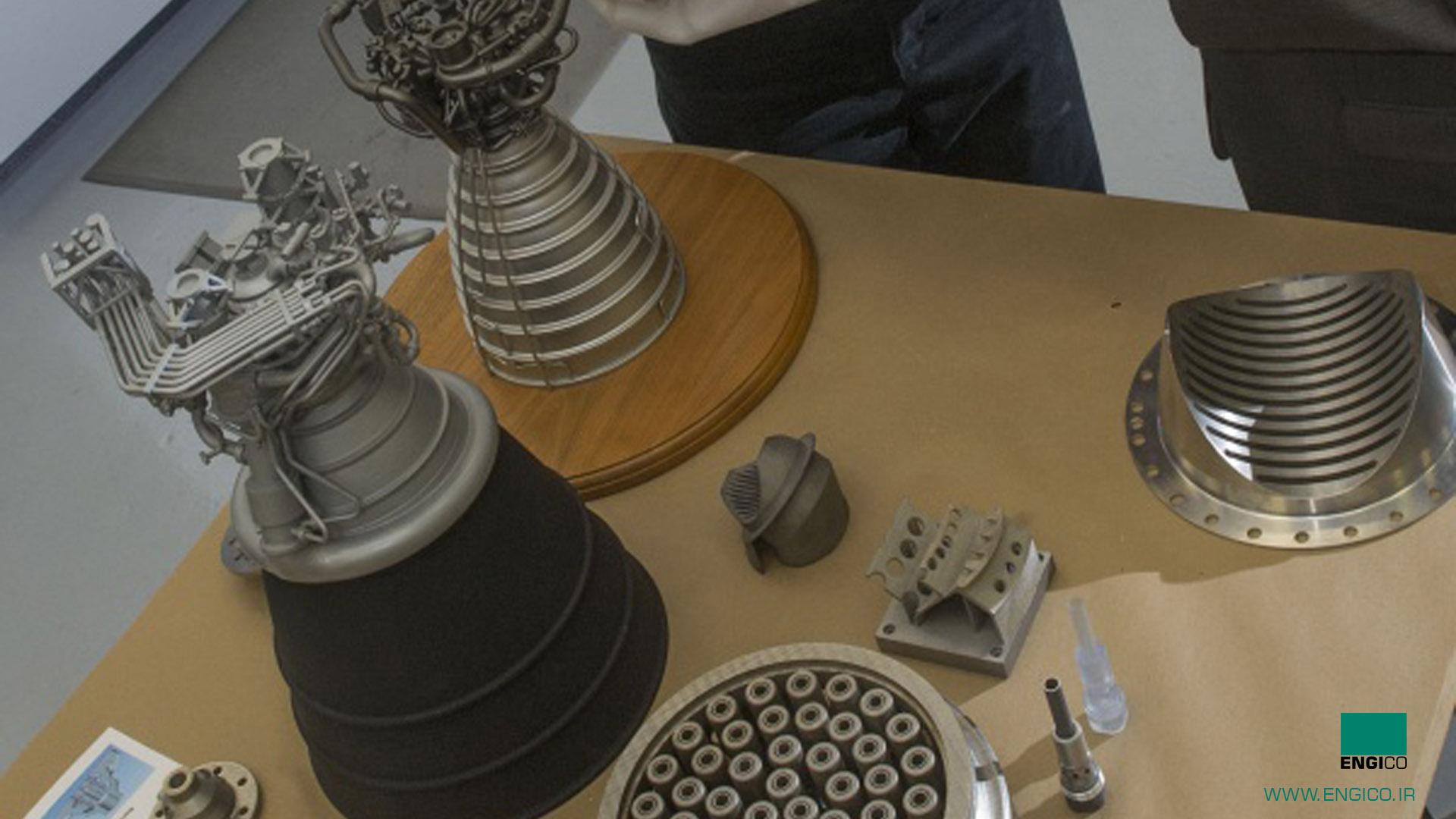 تولید موتور راکت ناسا با پرینتر سه بعدی slm