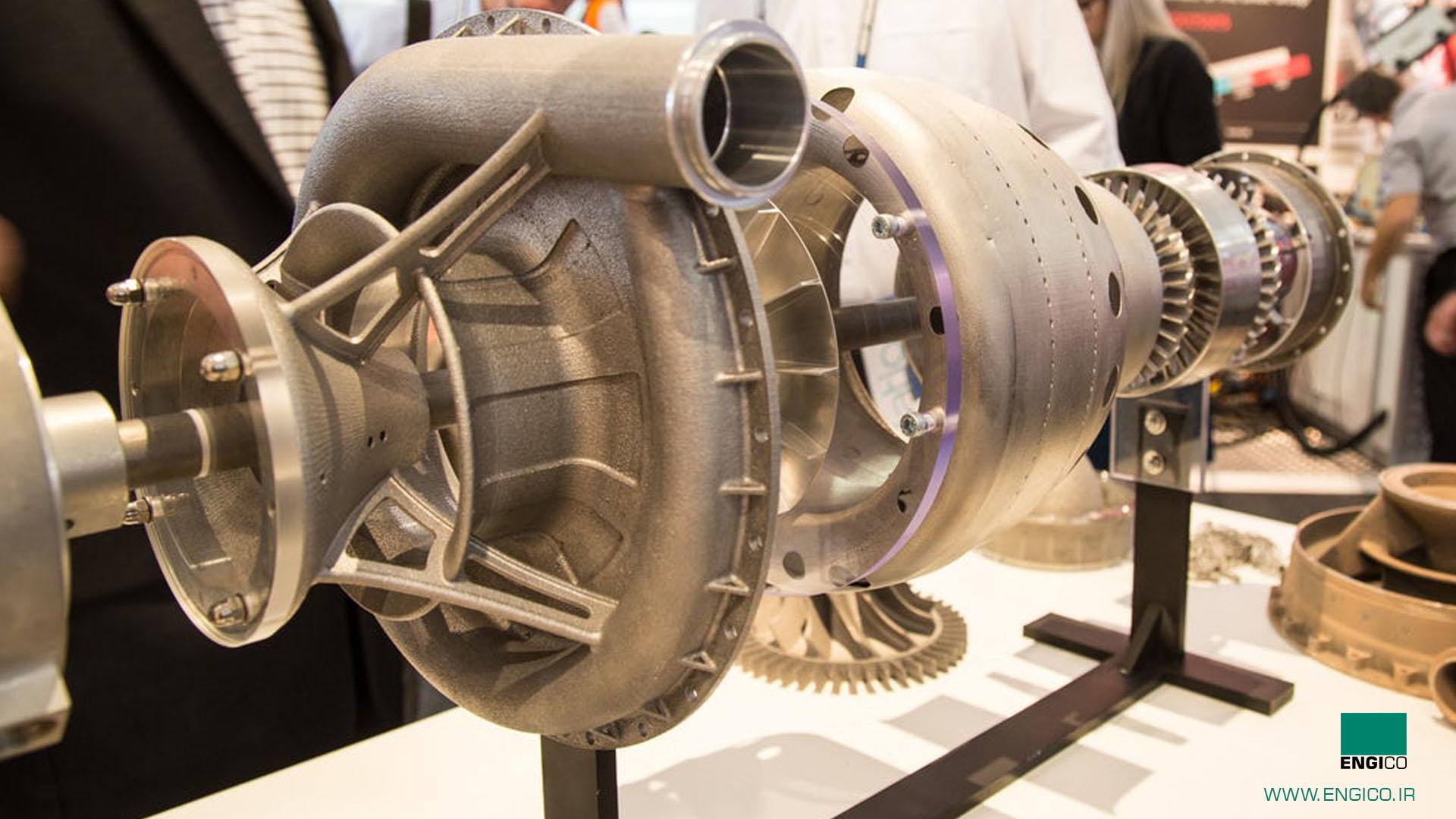 ساخت مینی توربو جت با استفاده از پرینتر سه بعدی slm در کمپانی EOS آلمان