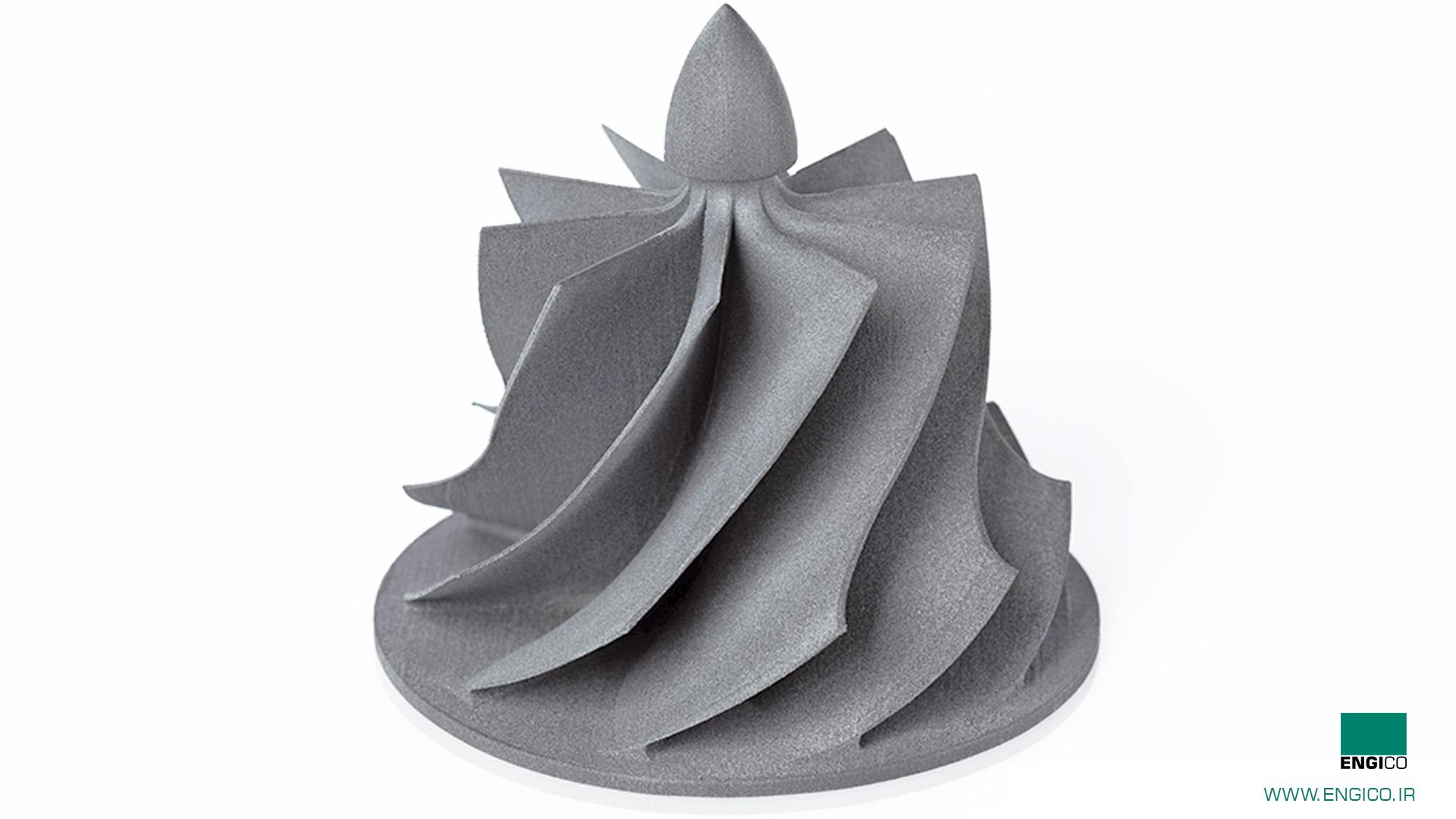 توربین ساخته شده با پرینتر سه بعدی SLS
